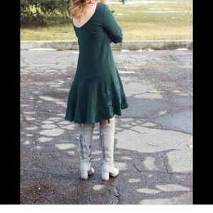 Anthropologie Dresses - Anthropologie Tierra green dress!